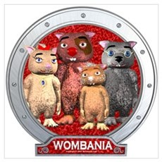 Wombies' Red Group Portrait Poster