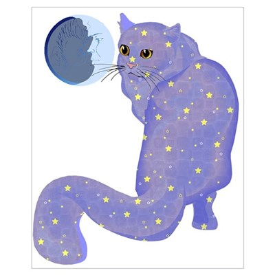 Night Cat Poster