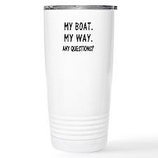 MY BOAT. MY RULES. Travel Mug