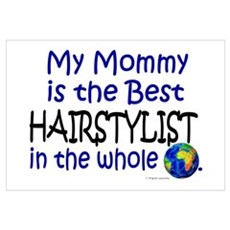 Best Hairstylist In The World (Mommy) Framed Print