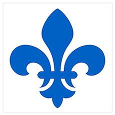 Blue Fleur-de-Lys Poster