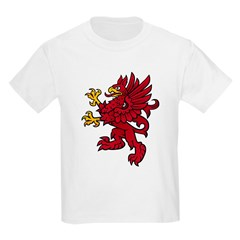 Red Gryphon Kids T-Shirt