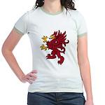 Red Gryphon Jr. Ringer T-Shirt