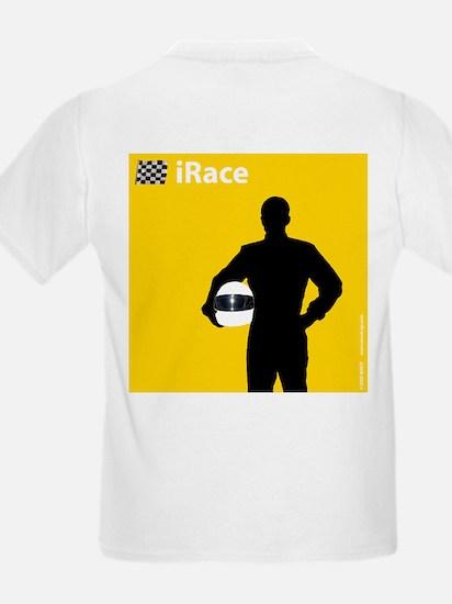iRace Yellow Race Driver Kids T-Shirt