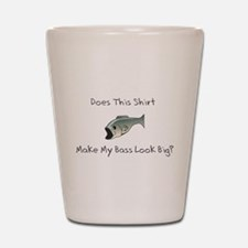 Bass Fishing Humor Shot Glass
