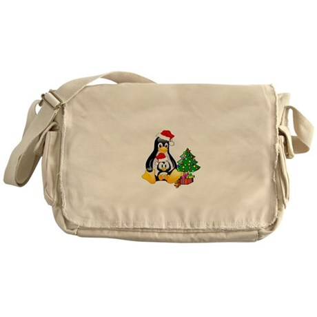 Its a Tux Christmas Messenger Bag