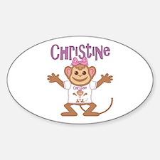 Little Monkey Christine Sticker (Oval)