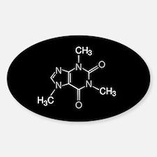 Caffeine Molecule, Sticker (Oval)