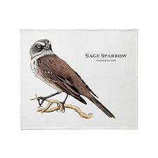 Sage Sparrow Throw Blanket