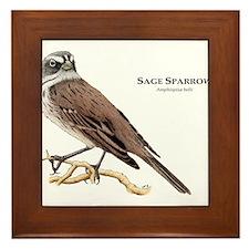 Sage Sparrow Framed Tile