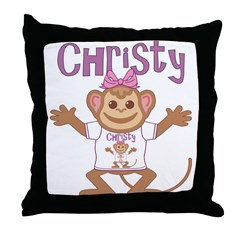 Little Monkey Christy Throw Pillow