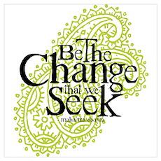 Obama - Change We Seek - Green Poster