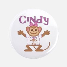 "Little Monkey Cindy 3.5"" Button"