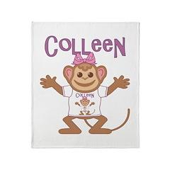 Little Monkey Colleen Throw Blanket