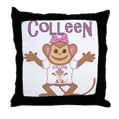 Little Monkey Colleen Throw Pillow
