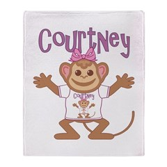 Little Monkey Courtney Throw Blanket