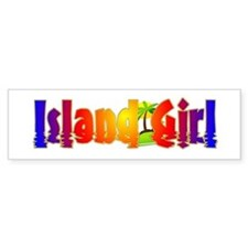 Island Girl Bumper Bumper Sticker