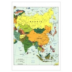 Asia Map Poster