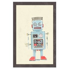 Retro Toy Robot Art Poster