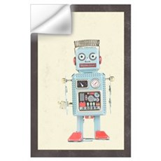 Retro Toy Robot Art Wall Decal