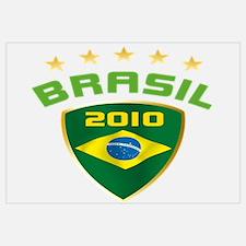 Soccer Crest 2010 BRASIL Stars