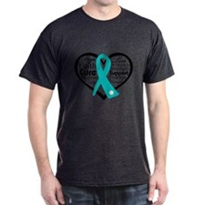 PCOS Heart Collage Ribbon T-Shirt