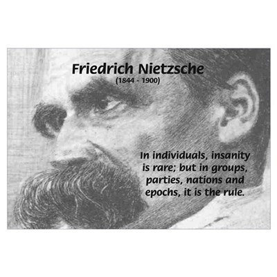 Group Insanity: Nietzsche Framed Print