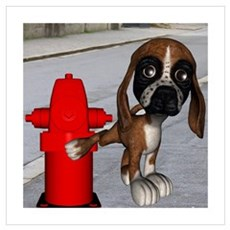 Dog Firehydrant Framed Print