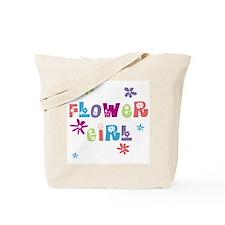 Happy Flowergirl Tote Bag