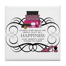 Happiness Tile Coaster