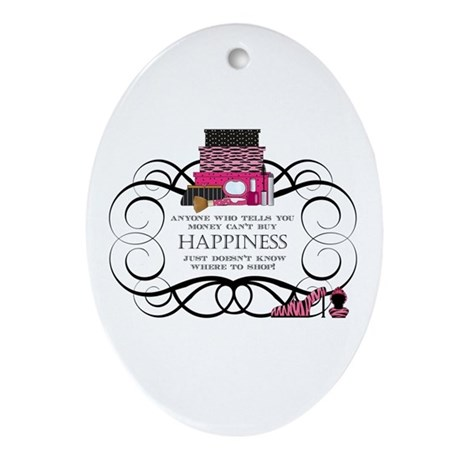 Happiness Ornament (Oval)