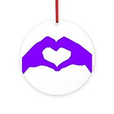 L O V E - Purple Ornament (Round)