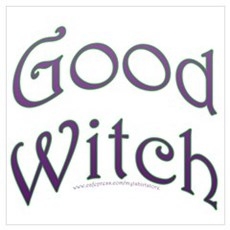 Good Witch Text Design Poster