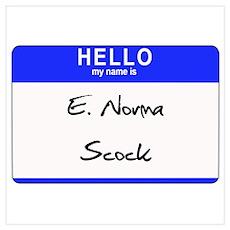 E. Norma Scock Poster