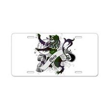 Blair Tartan Lion Aluminum License Plate