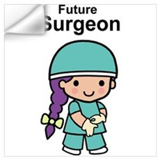Future Surgeon for Her Wall Decal