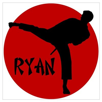 Ryan Karate Canvas Art