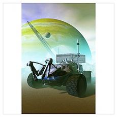 Robotic Landrover Poster