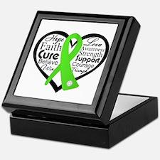 Lyme Disease Heart Ribbon Keepsake Box