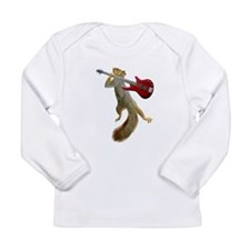 Squirrel Red Guitar Long Sleeve Infant T-Shirt