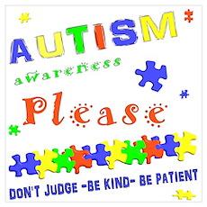 Autism Awareness- Don't Judge. Poster