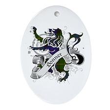 Bonner Tartan Lion Ornament (Oval)