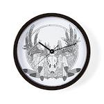 Whitetail Euro Mount Wall Clock