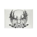 Whitetail Euro Mount Rectangle Magnet (100 pack)