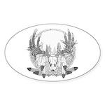 Whitetail Euro Mount Sticker (Oval 10 pk)