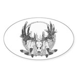 Whitetail Euro Mount Sticker (Oval 50 pk)