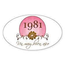 1981 Spanish Year Decal