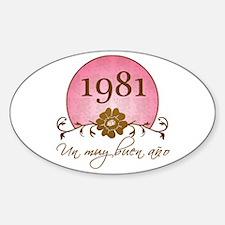 1981 Spanish Year Sticker (Oval)