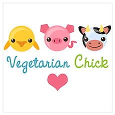 Vegetarian Chick Poster