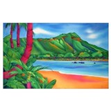 Beach painting Wrapped Canvas Art